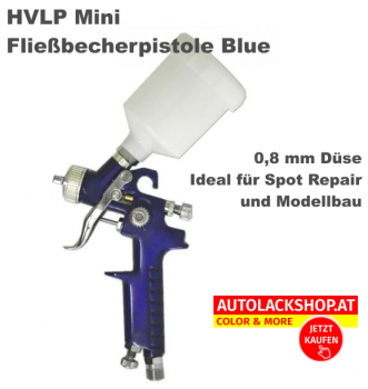 HVLP Mini-Fließbecherpistole Blue 0,8 mm